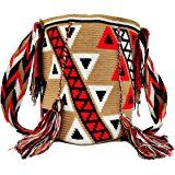 Wayuu Mochila Bag - Large - Handmade in Colombia by Indigenous Peoples. Made With Crocheted Cotton.