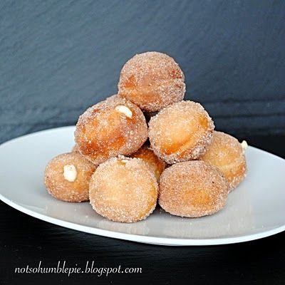 spiced rum cream filled donuts