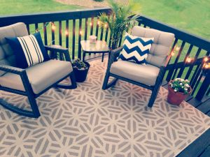 I'm digging the outdoor rug.