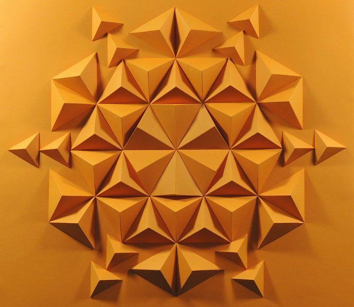 Eloroesunmetal | Paper art triangulos
