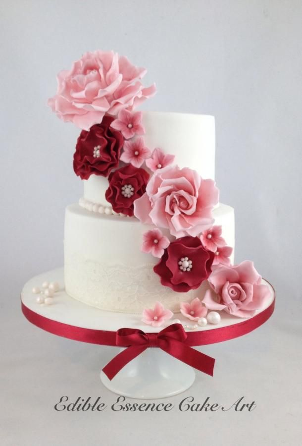 40th wedding anniversary flowers ruby wedding anniversary cakes amp cake decorating daily 1120