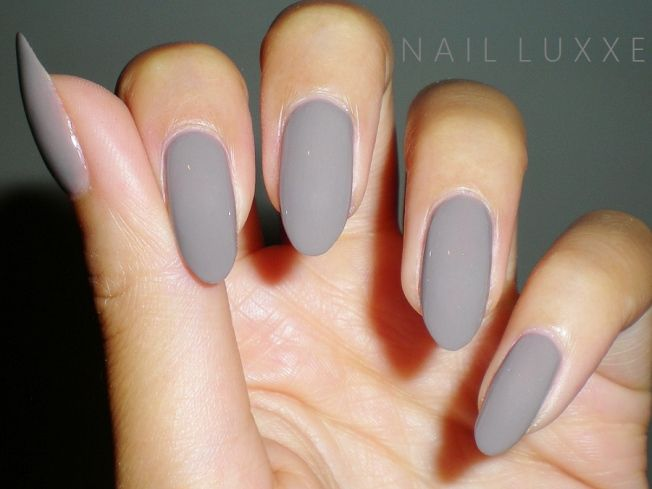 Essie Chinchilly Swatch Almond Nails