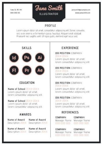 A Pretty CV Template With Icons To Explain Visuals Can Help You When Applying As
