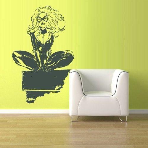 Best Girls Superhero Room Images On Pinterest Superhero Room - Girl superhero wall decals