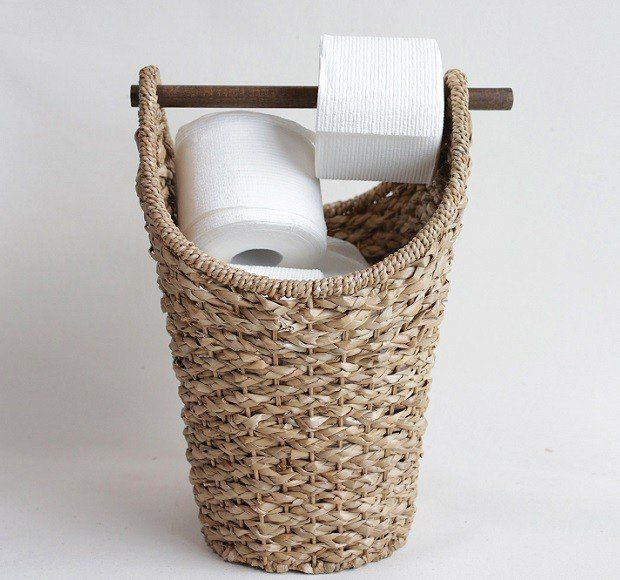 Braided Toilet Paper Basket