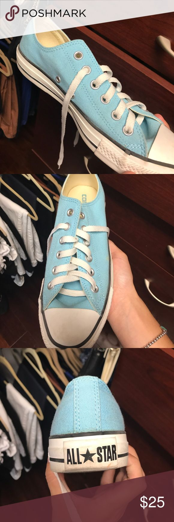 Light Blue Converse! Great Condition!! Light Blue Converse! Great Condition!! Converse Shoes Sneakers