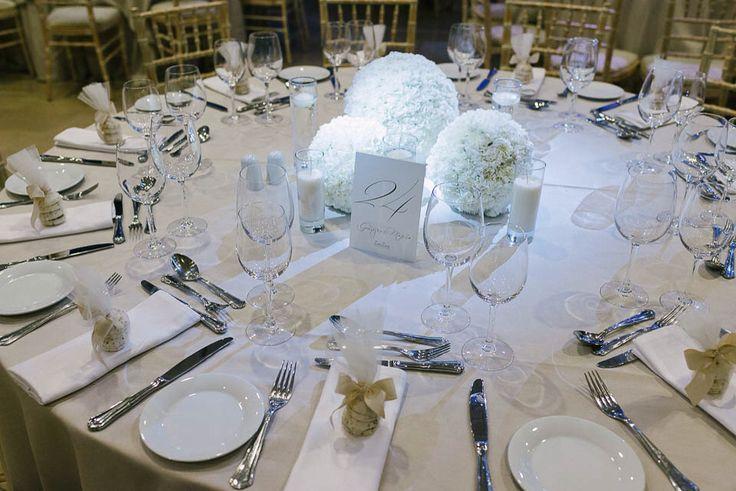 Chic & elegant wedding centerpiece by Live Love
