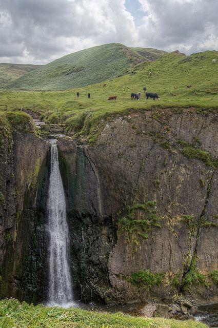 Speke's Mill Mouth Falls, Hartland, Devon, England. Photo by Derek N Winterburn.