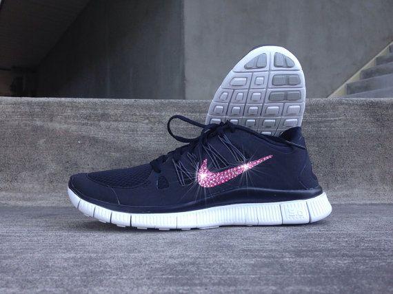 50498e7efd301 ... usa new in box womens nike free run 5.0 running shoes 580591 406  customized pink swarovski
