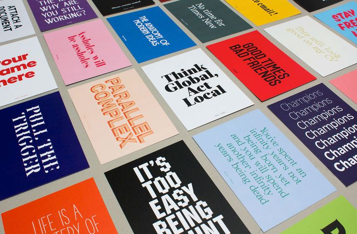 The Designers Foundry — The Sampler on Behance