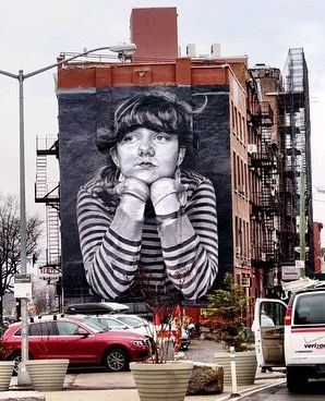 """""""Lost Time"""" : high school senior Steven Paul's photo turned into hand-painted mural by Colossal Media in Brooklyn (LP)"""