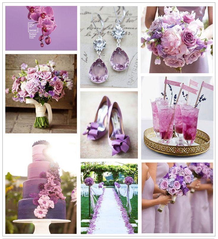 Radiant Orchid wedding inspiration!