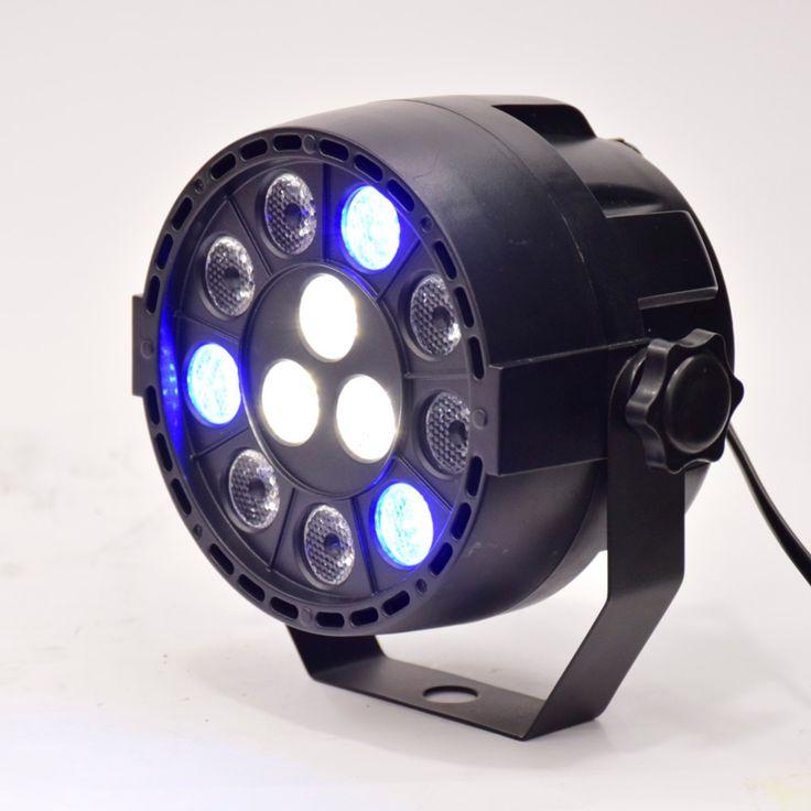 Datar led par tahap cahaya rgbw 12 W lampu pesta disko efek Dj luz laser dmx controller Dj Peralatan proyektor luces discoteca