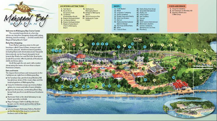 Mahogany Bay Cruise Center Map | Mahogany Bay Isla Roatan