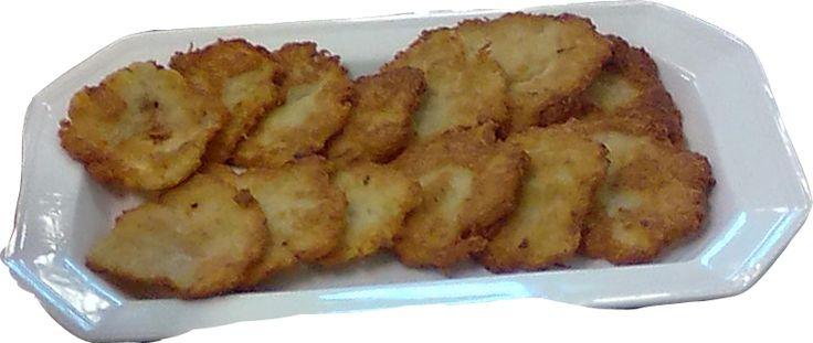 Panqueca de batata e purê de maçã