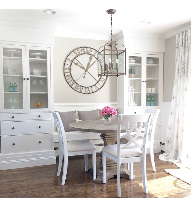 Breakfast Nook with IKEA Built ins.