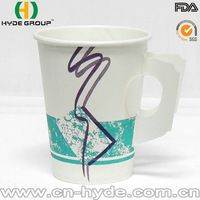 Disposable Coffee Paper Cup with Handle