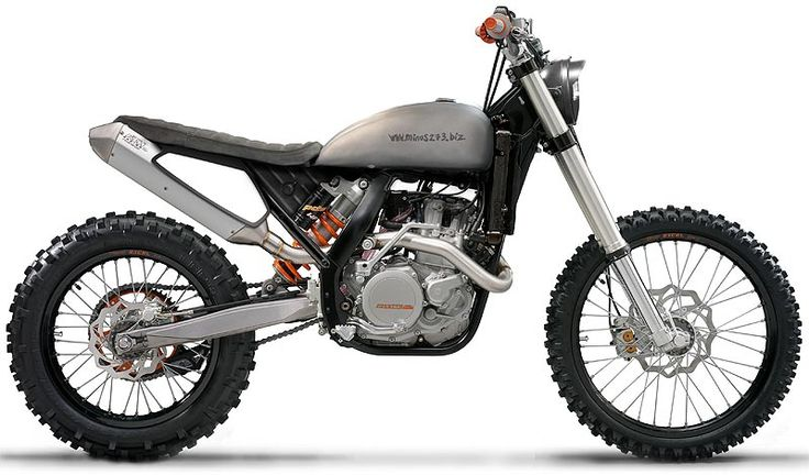 photoshopped  KTM EXC with a (modified) custom Triumph seat and tank