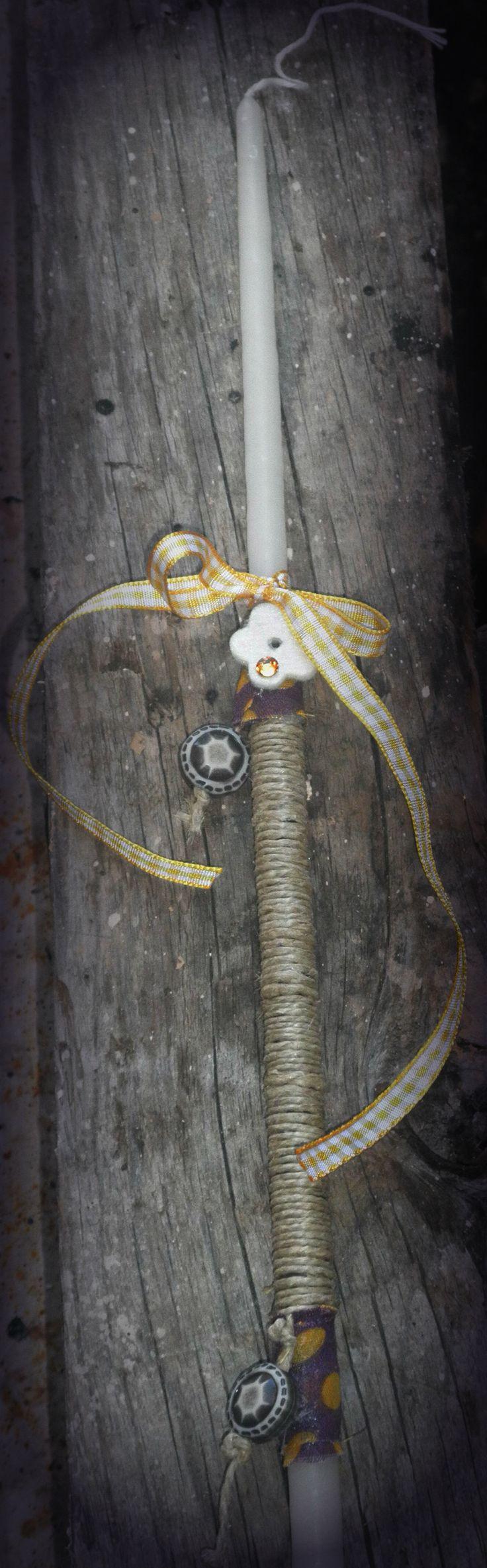 handmade easter candle by K.ompo.S- Handmade Jewel