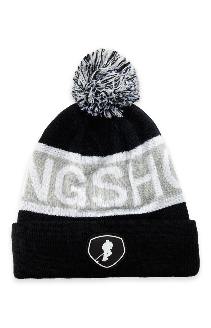 All Nighter Black Gongshow Winter Hockey Toque Hat | GONGSHOW Hockey Lifestyle Apparel