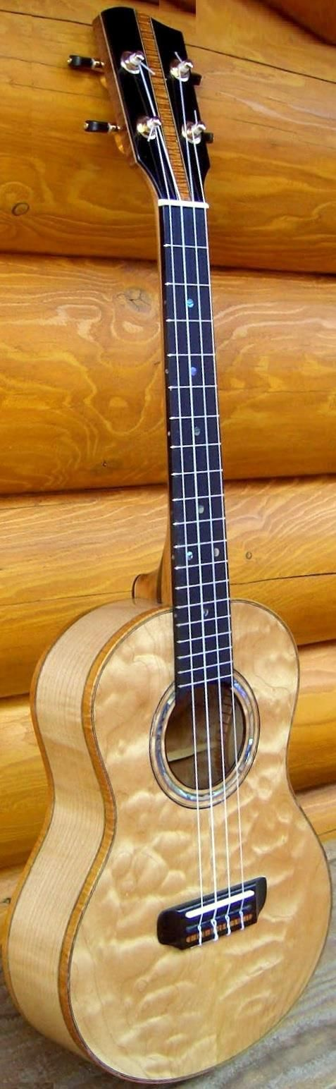 Tom Parse Far North quilted maple Tenor Ukulele --- https://www.pinterest.com/lardyfatboy/