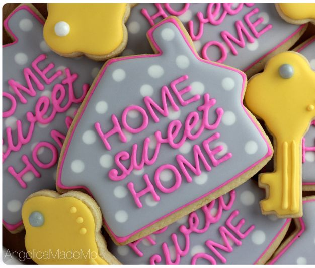 Make sugar cookies with a house shaped cookie cutter fun for Creative housewarming party ideas