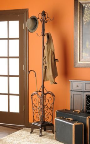 We need to remember to find a coat or hat rack. I like ones that stand up because you don't have to attach them to a wall, and you can move them around easily.