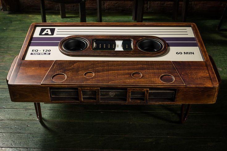 My friend made this awesome cassette tape coffee table and I just had to take a few photos.