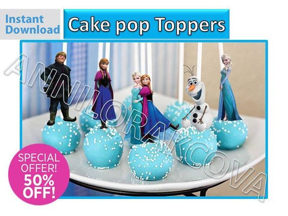 Frozen Cake pop Toppers/ Frozen Cupcake Toppers/ by VICTORSTORE