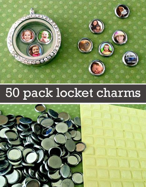 50 Pack Mini Round Photo Charms For Floating In Your Glass Lockets