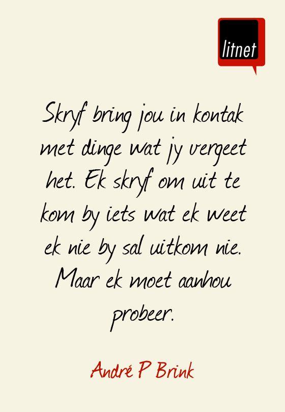RIP Andre P Brink #Afrikaans #Nederlands #idiome #segoed #suidafrika #skrywers #skryf