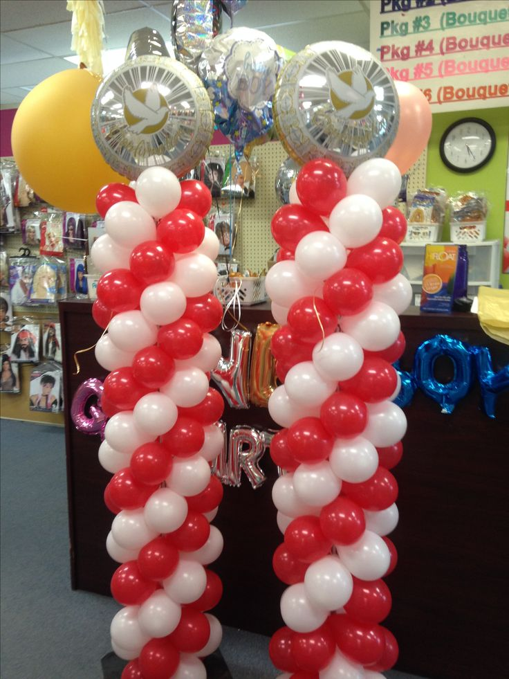 Using 5inch balloons to create columns