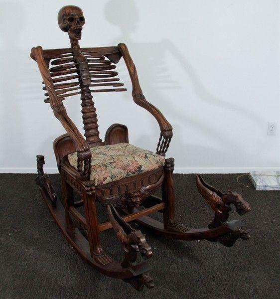 "Mori"" Mid-19th century Skeleton Rocking Chair #victorian #furniture ..."