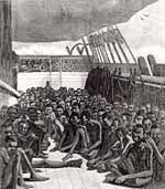 Between 1450 and 1850, 12 million Africans were shipped across the Atlantic, and 10 or 11 million got there alive. A number equal to 1/3 of those shipped might have died in the initial raiding or march to the coast. The volume of the trade increased from the 16th to the 18th centuries, with 80% of the total coming in the latter century.