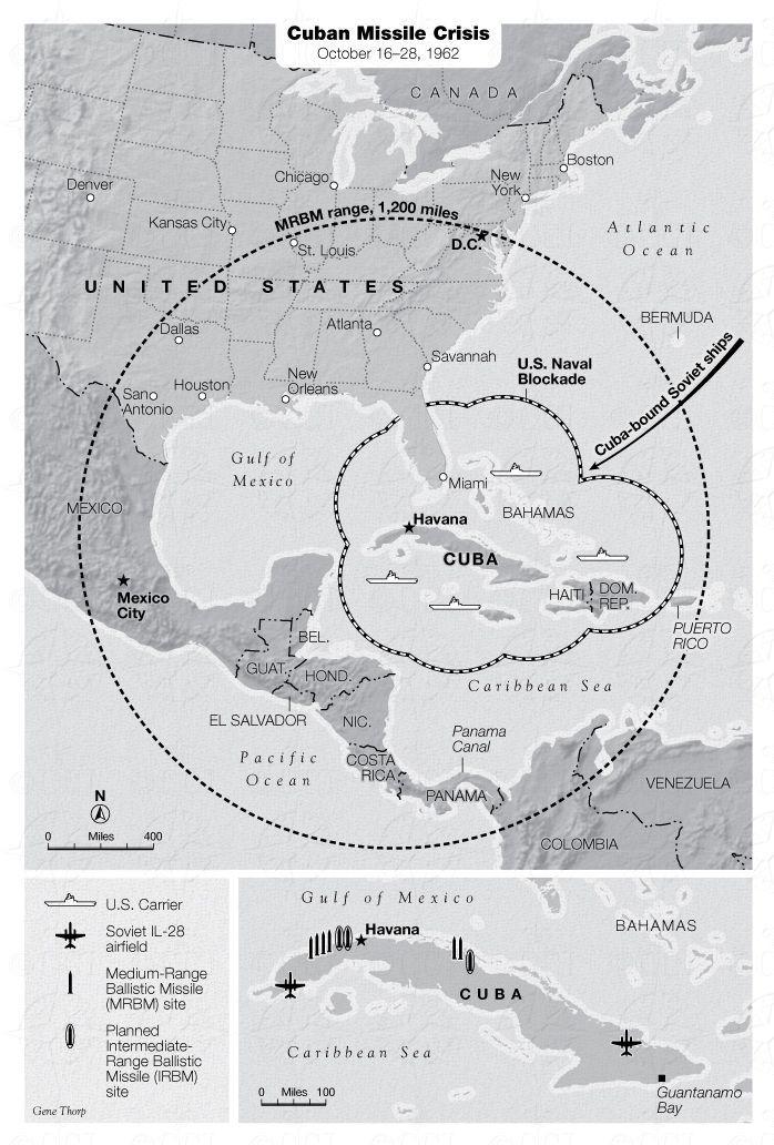 cuban missile crisis map