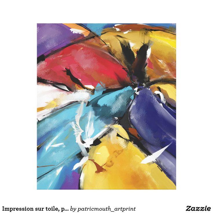 """Impression sur toile, petit modèle """"Abstract 1510"""""""