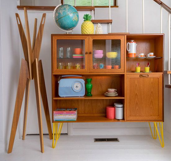 Upcycled vintage G-Plan cabinet with hairpin legs on eBay