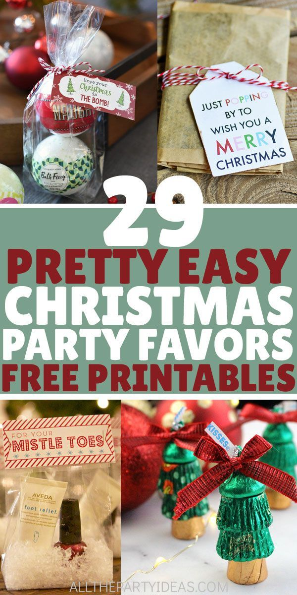 Easy Diy Christmas Party Favors Goodie Bag Ideas To Make Kids Boys Girls And Adults Men Wo Christmas Party Favors Easy Christmas Party Diy Christmas Party