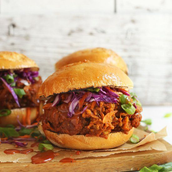 561 best foodgawker images on pinterest messages posts and bread healthy 10 ingredient vegan pulled pork sandwich with tons of smoky forumfinder Images