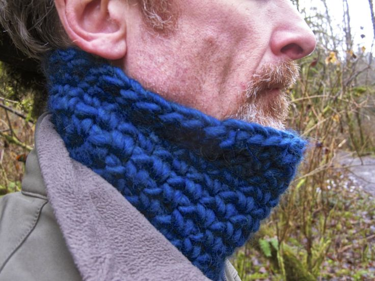 close up of neck warmer for men