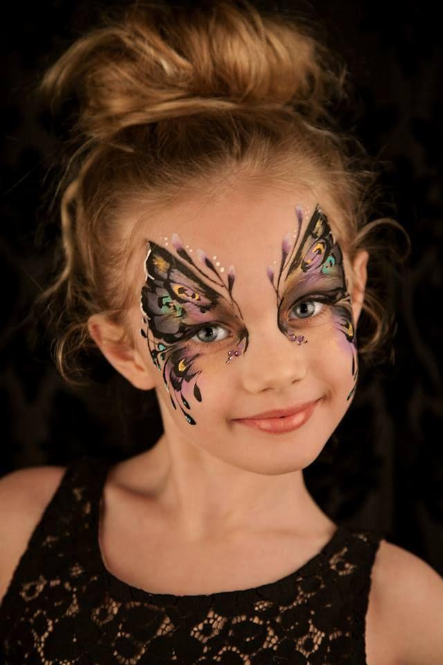 Грим бабочка на лице