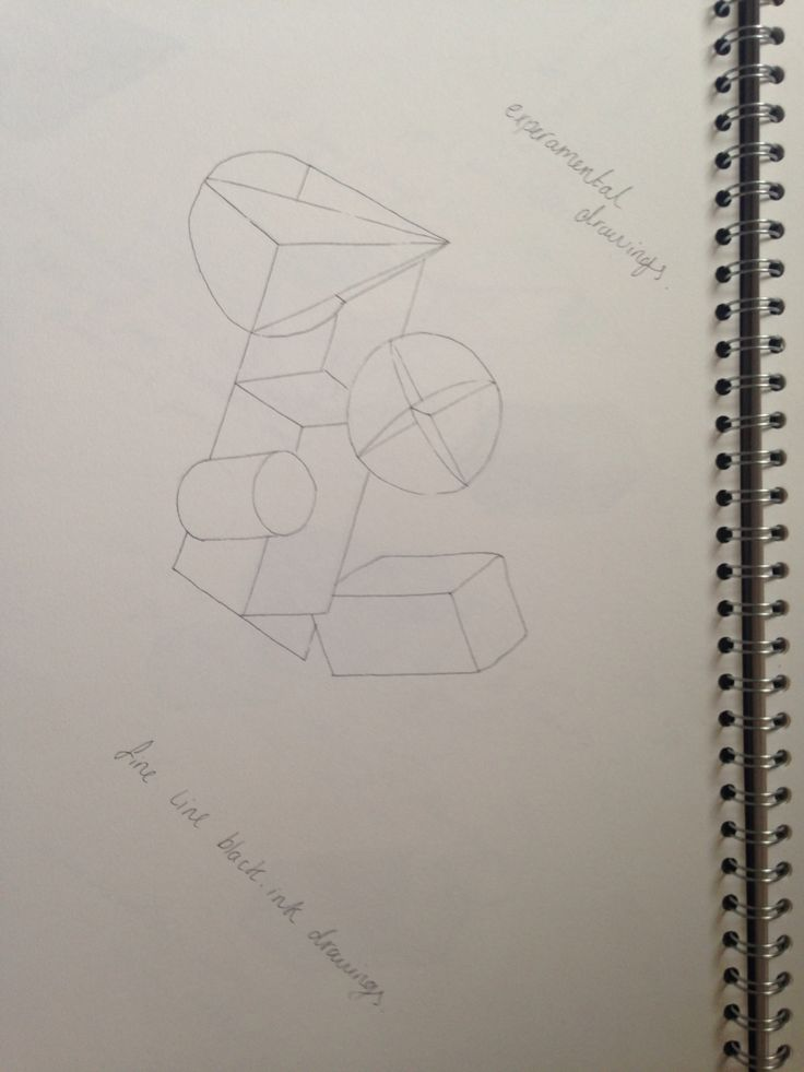 Drawing of shapes using only ink