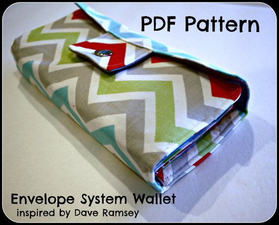 PDF pattern - Dave Ramsey inspired Envelope System Wallet - INSTANT download