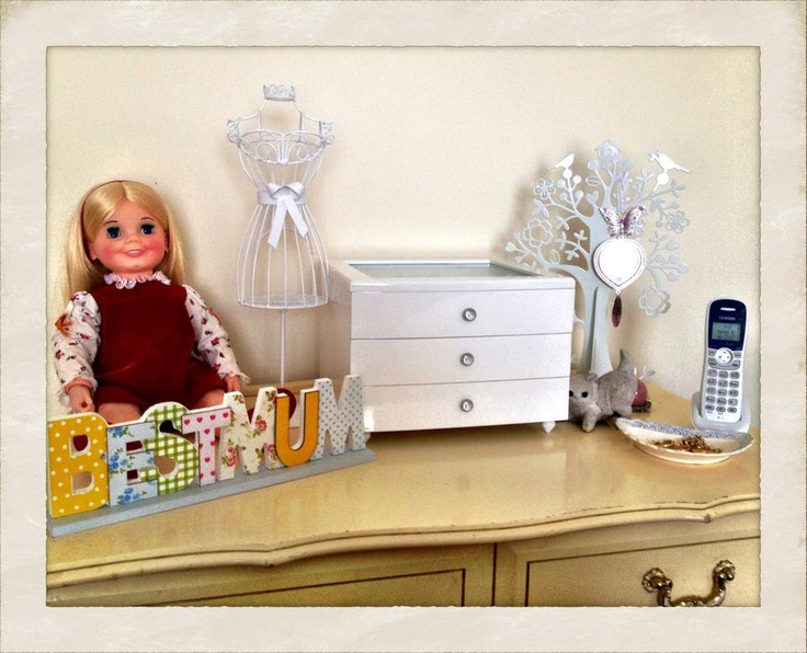 spot in my bedroom Im working on. The doll is a vintage doll from ...