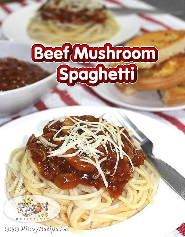 Beef Mushroom Spaghetti Recipe Is A Is A Fantastic Way To Get More Mushrooms Into Your Diet This Yummy Heart He Recipes Stuffed Mushrooms Healthy Pasta Dishes