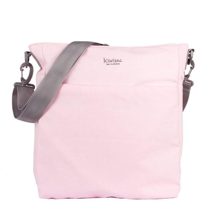 Bolso en tono gris para llevar en la sillita de paseo o colgado en bandolera.