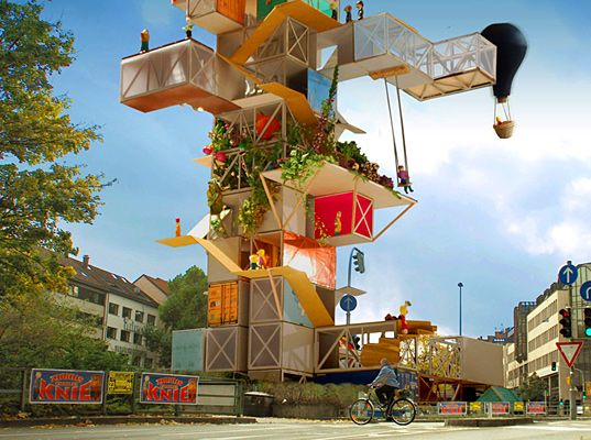 In the center of Stuttgart, Germany, lies an odd roundabout called Oesterreichischer Platz.