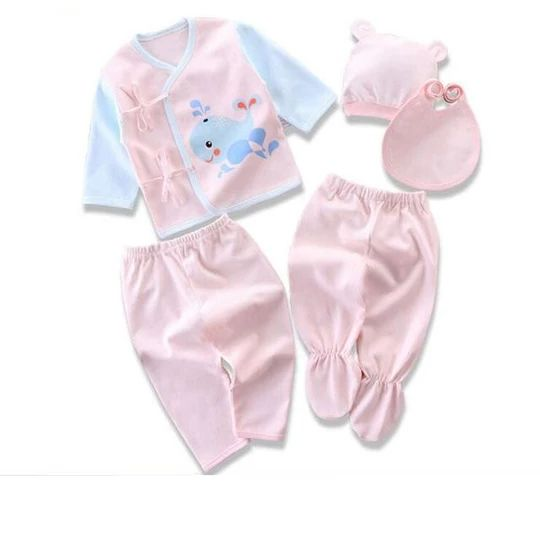 Newborn Baby Sets (5pcs / set) Infant Underwear Set Unisex Clothing Suitdresskily