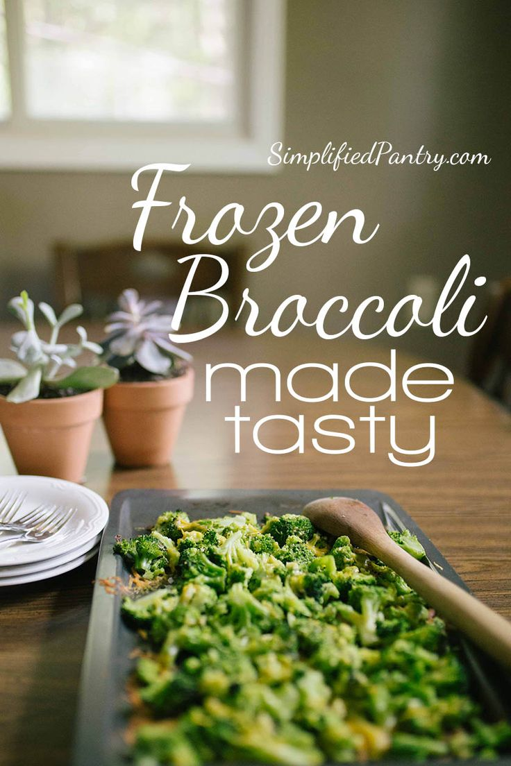 Frozen Broccoli made tasty.