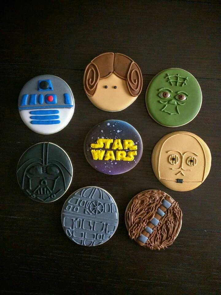 Galletas de R2-D2, Princesa Leia, Yoda, Darth Vader, logo Star Wars, C3PO, Death Star y Chewbacca